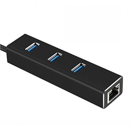 Адаптер от USB Type-C към 3xUSB 3.0 и RJ45 конектор CA77