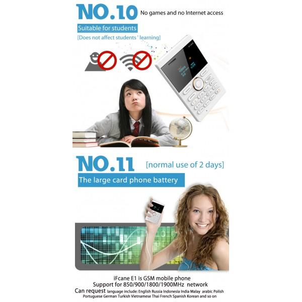 Мини мобилен телефон iFcane E1 7