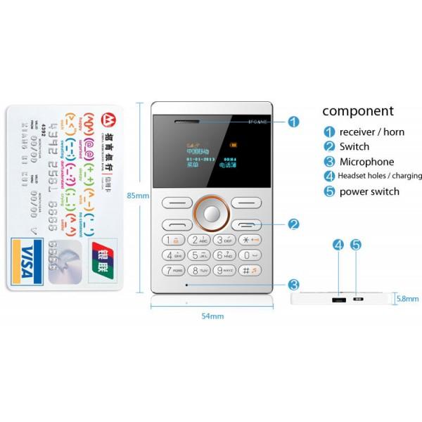 Мини мобилен телефон iFcane E1 9