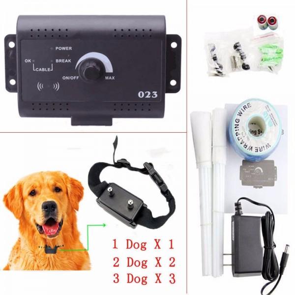 Електронен водоустойчив нашийник със система за обучение на кучета и голям обхват