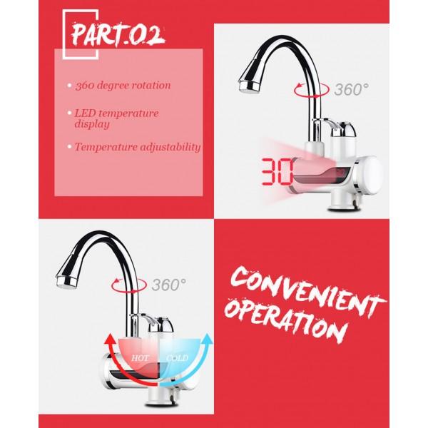 Смесител за вода с нагревател за мигновено загряване 3000W TV69 9
