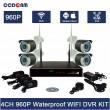 Комплект за видеонаблюдение, 4 канален WiFi NVR и 4 броя 1.3MP безжични IP камери 10