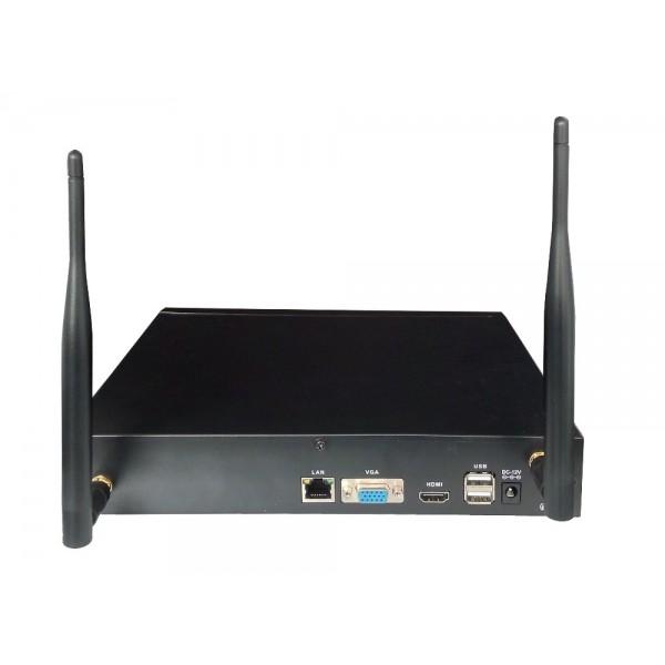 Комплект за видеонаблюдение, 4 канален WiFi NVR и 4 броя 1.3MP безжични IP камери 4