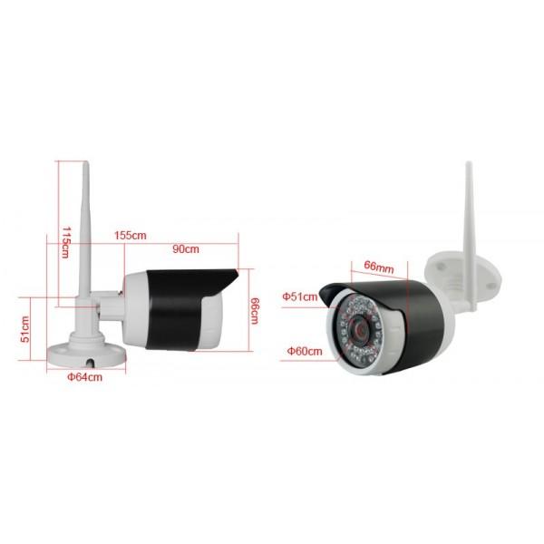 Комплект за видеонаблюдение, 4 канален WiFi NVR и 4 броя 1.3MP безжични IP камери 5