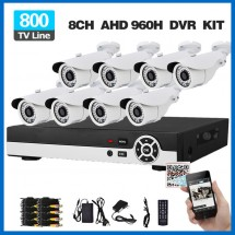 Пълен комплект за система за видеонаблюдение 8 камери и DVR устройство