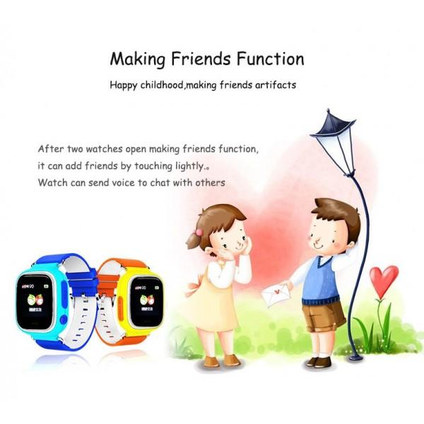 Детски смартчасовник с функции за проследяване и родителски контрол Q90 7
