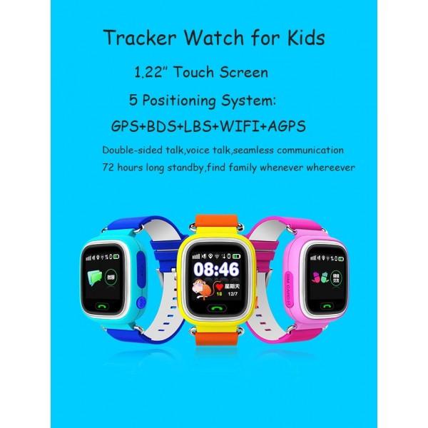 Детски смартчасовник с функции за проследяване и родителски контрол Q90 9