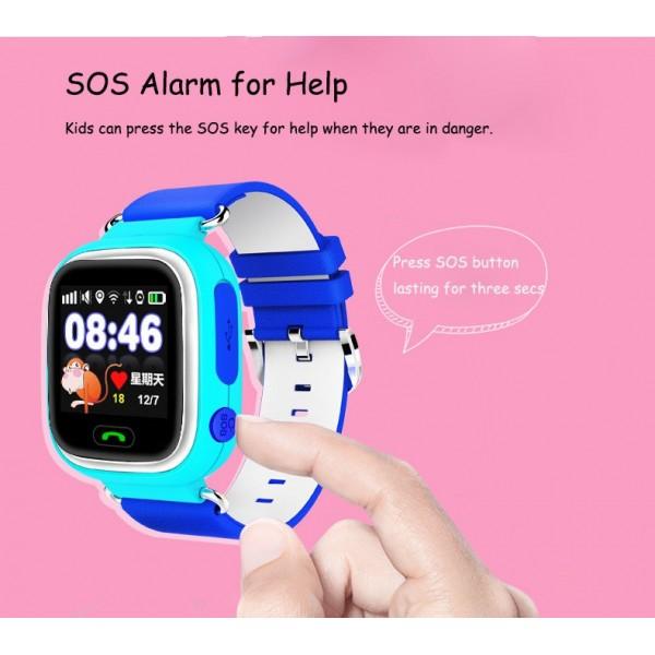 Детски смартчасовник с функции за проследяване и родителски контрол Q90 13