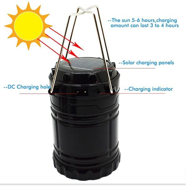Соларна преносима лампа за къмпинги и туризъм CAMP LAMP2B 4