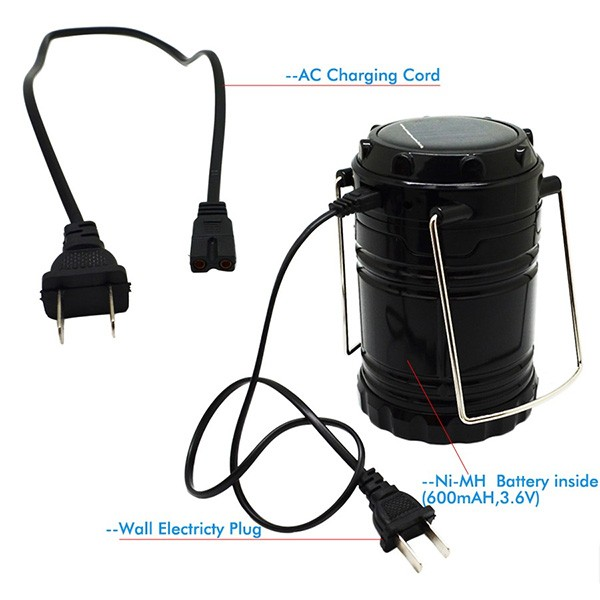 Соларна преносима лампа за къмпинги и туризъм CAMP LAMP2B 5