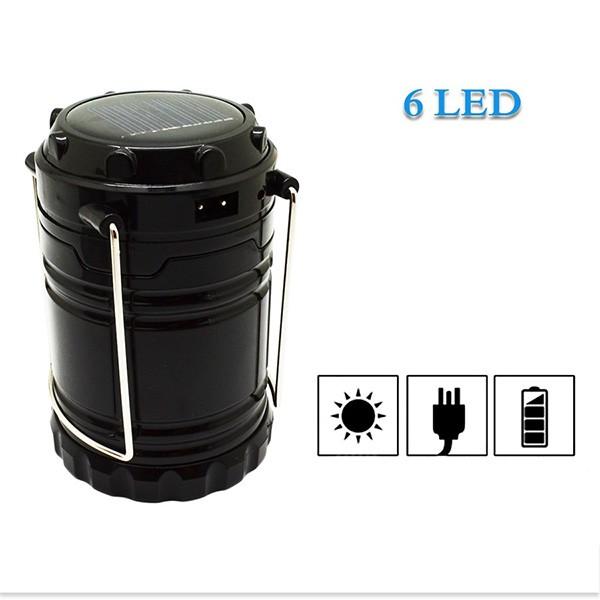 Соларна преносима лампа за къмпинги и туризъм CAMP LAMP2B 6