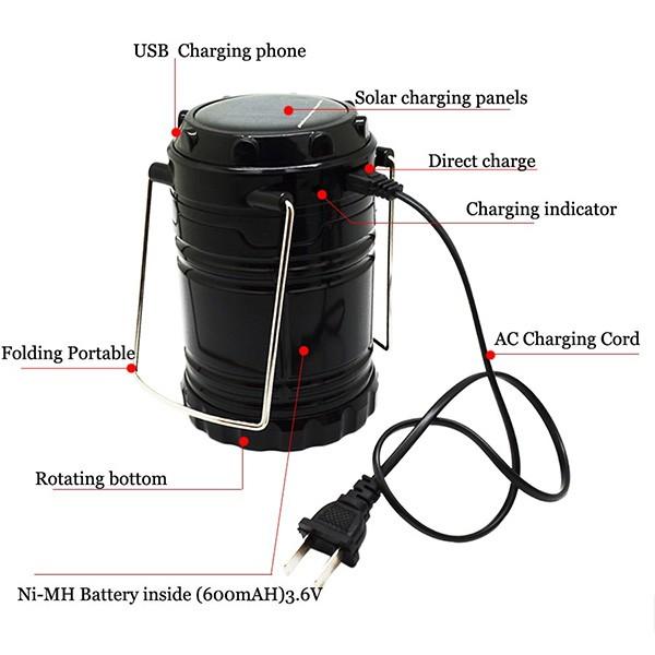 Соларна преносима лампа за къмпинги и туризъм CAMP LAMP2B 8