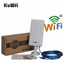 WiFi рутер и външна антена за прихващане и излъчване на WiFi сигнал до 3 км. Bydigital RT3070 WF19