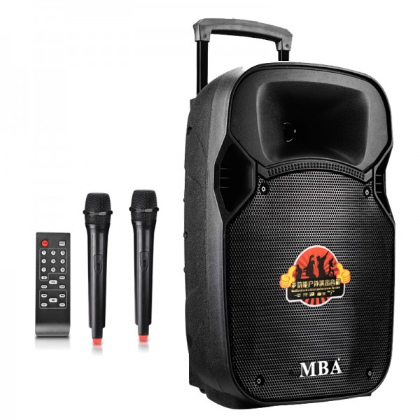 Портативна box колона MBA SA-8100 с два микрофона и цветомузика