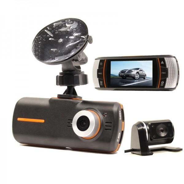 DVR за кола с HD предна и задна камери и LED светлина за нощен запис AC44 4