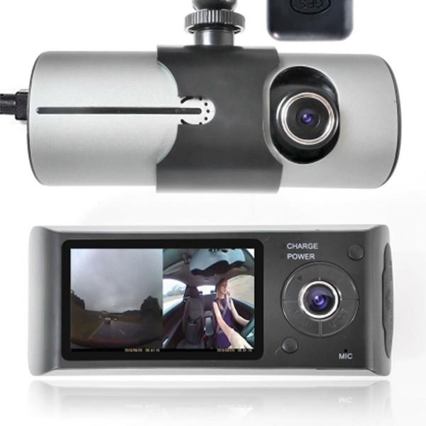 Видеорегистратор с 2 камери X3000 R300 с 2.7 GPS AC42 3