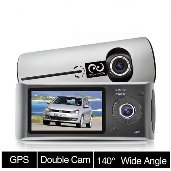 Видеорегистратор с 2 камери X3000 R300 с 2.7 GPS AC42 4