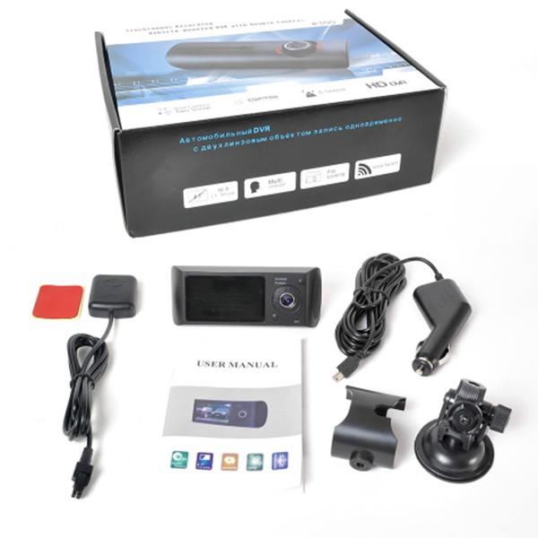 Видеорегистратор с 2 камери X3000 R300 с 2.7 GPS AC42 5