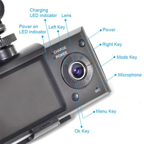 Видеорегистратор с 2 камери X3000 R300 с 2.7 GPS AC42 9