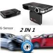 DVR видеорегистратор 2 в 1 с дисплей 2 инча камера и радар за скорост AC51 1