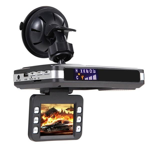 DVR видеорегистратор 2 в 1 с дисплей 2 инча камера и радар за скорост AC51