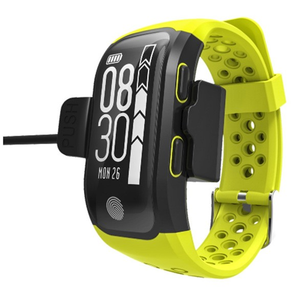 Водоустойчива смарт гривна S908 с крачкомер GPS измерване на сърдечен ритъм SMW18 9