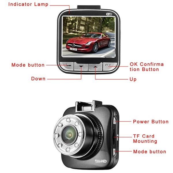 Мини видеорегистратор с нощно виждане G55W AC45 11