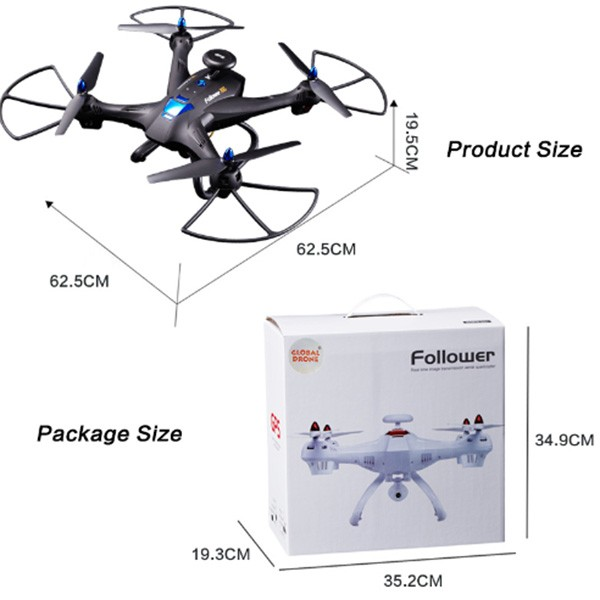 Квадрокоптер Global Drone X183 10