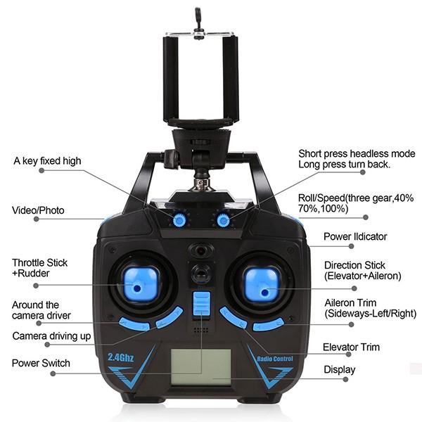 H26W – дрон с камера и безжична връзка към мобилни устройства с Android и iOs 7
