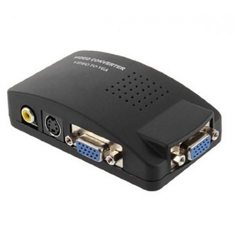 VGA конвертор поддържа трансфер между DVD или PS2 към телевизор или монитор CA89