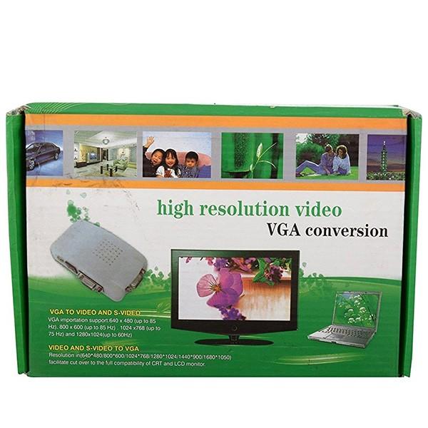 VGA конвертор поддържа трансфер между DVD или PS2 към телевизор или монитор CA89 2