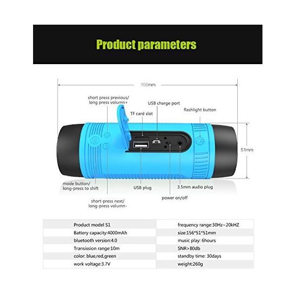 ZEALOT S1 Преносим водоустойчив Bluetooth високоговорител, фенер, Music Player 1