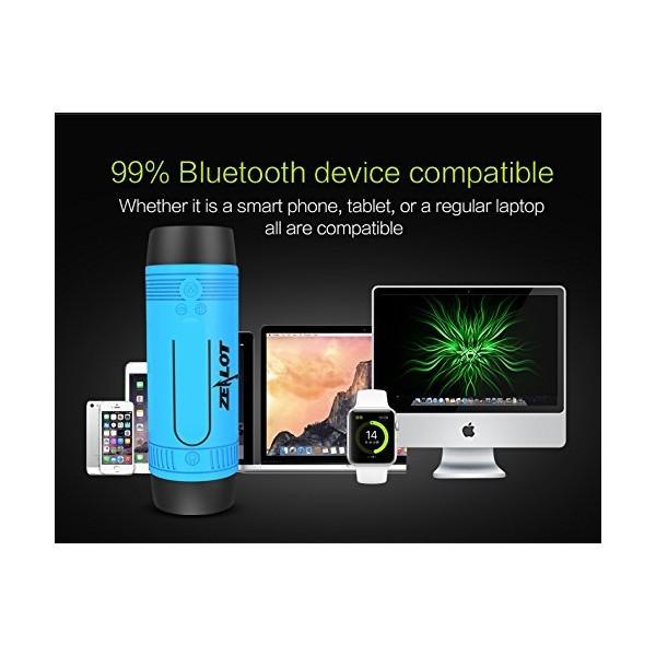 ZEALOT S1 Преносим водоустойчив Bluetooth високоговорител, фенер, Music Player 5