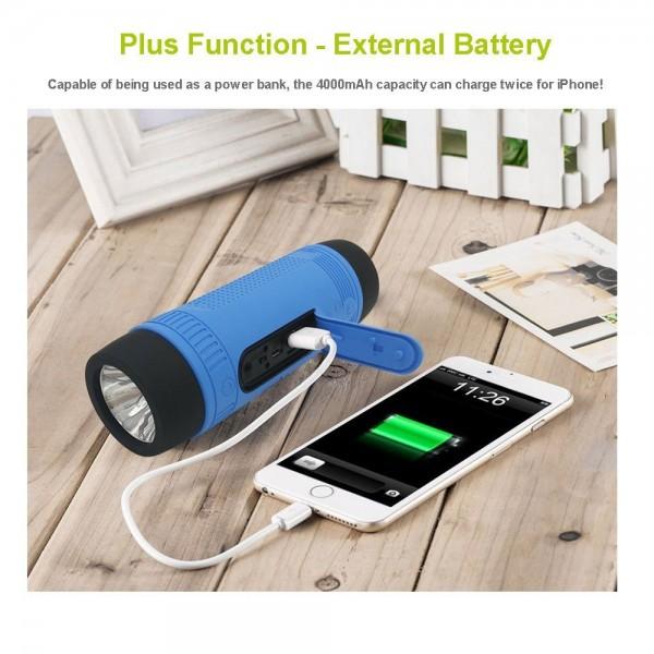 ZEALOT S1 Преносим водоустойчив Bluetooth високоговорител, фенер, Music Player