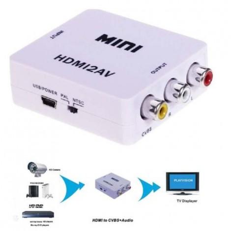 Mini HD Video конвертор HDMI към RCA AV/CVSB L/R Video 480P 720P 1080P HDMI2AV поддържа NTSC PAL CA85