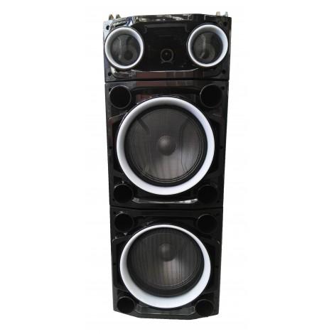 "Колона с двоен бас Avcrowns CH6210 2 x 10"" PA Speaker +Bluetooth +USB/SD/FM +LED"