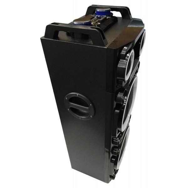 "Колона с двоен бас Avcrowns CH6210 2 x 10"" PA Speaker +Bluetooth +USB/SD/FM +LED 3"