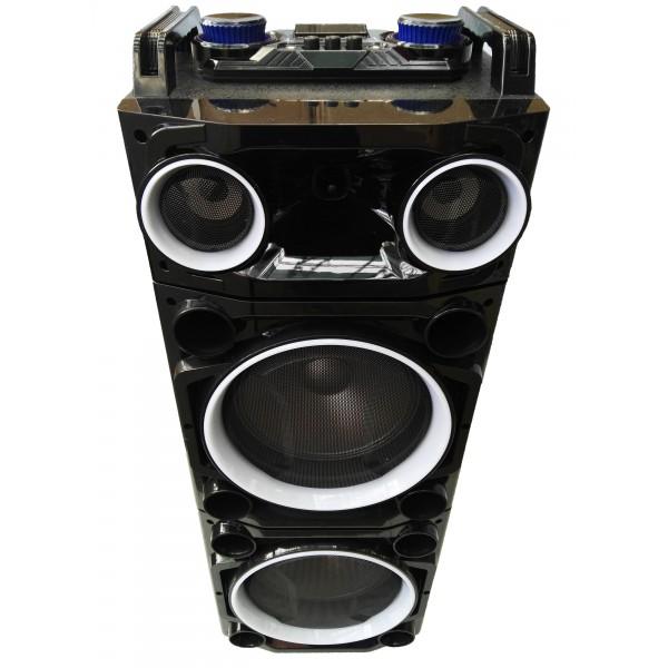 "Колона с двоен бас Avcrowns CH6210 2 x 10"" PA Speaker +Bluetooth +USB/SD/FM +LED 4"