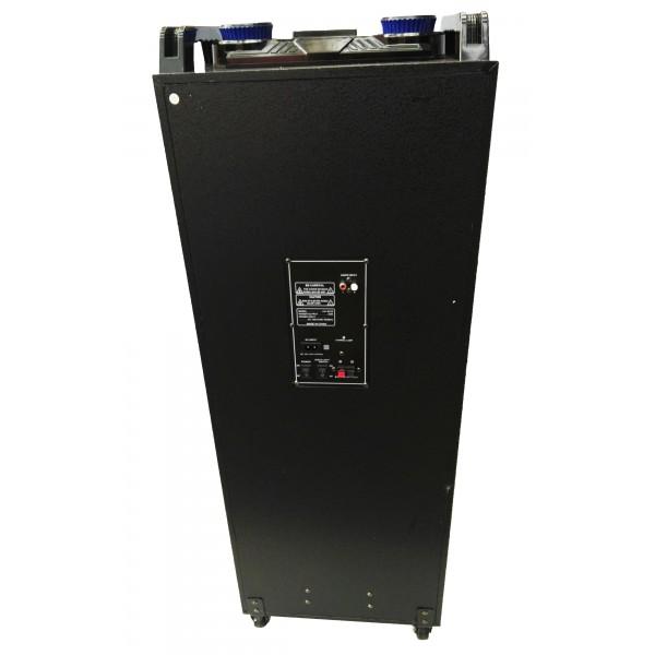 "Колона с двоен бас Avcrowns CH6210 2 x 10"" PA Speaker +Bluetooth +USB/SD/FM +LED 5"