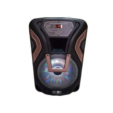 Озвучителна система 12 инча с акумулаторна батерия дистанционно 2 микрофона К8-12