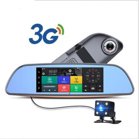 Камера за кола с Android, GPS навигация, Wi Fi и 3G за задно виждане тип огледало AC23