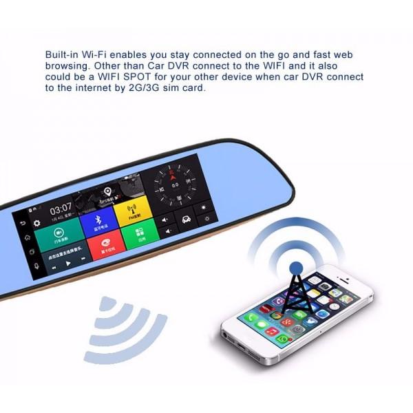 Камера за кола с Android, GPS навигация, Wi Fi и 3G тип огледало AC23 11
