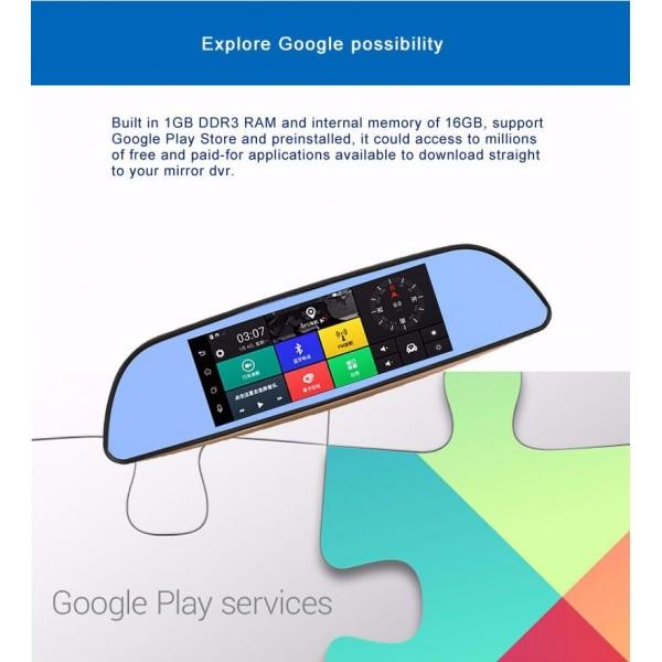 Камера за кола с Android, GPS навигация, Wi Fi и 3G тип огледало AC23 18