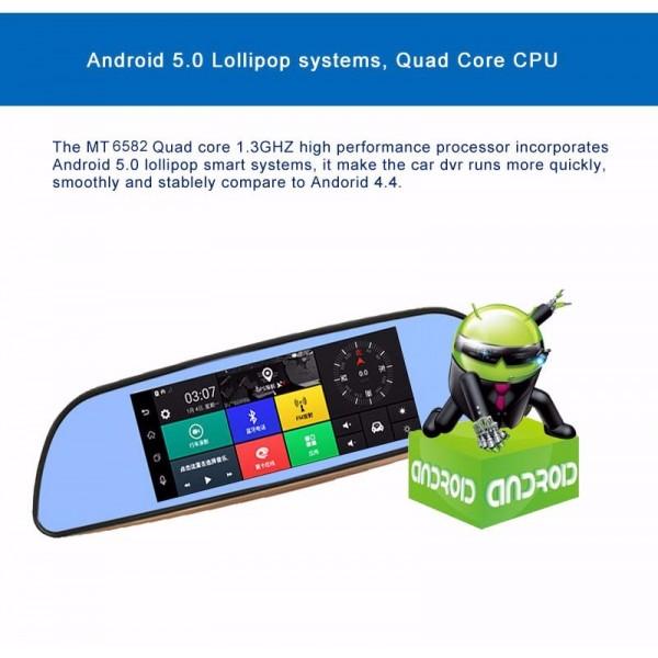 Камера за кола с Android, GPS навигация, Wi Fi и 3G тип огледало AC23 20