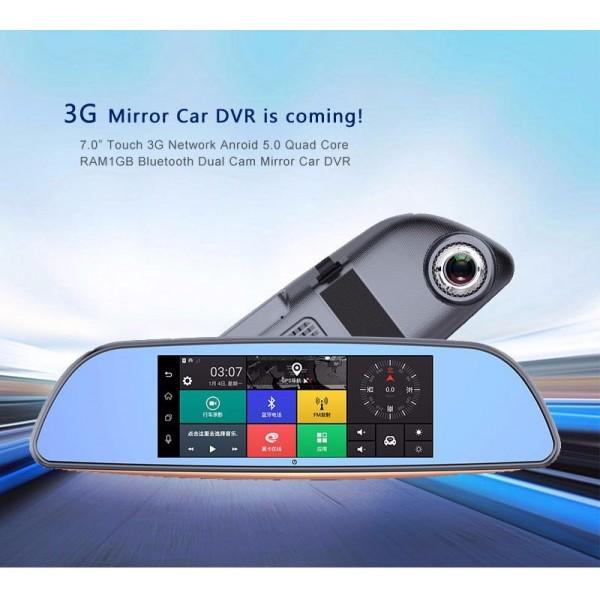 Камера за кола с Android, GPS навигация, Wi Fi и 3G тип огледало AC23 21