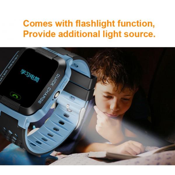 Водоустойчив GPS часовник -Детски -SOS повикване -Micro SIM за Andrioid и IOS,Y21 5