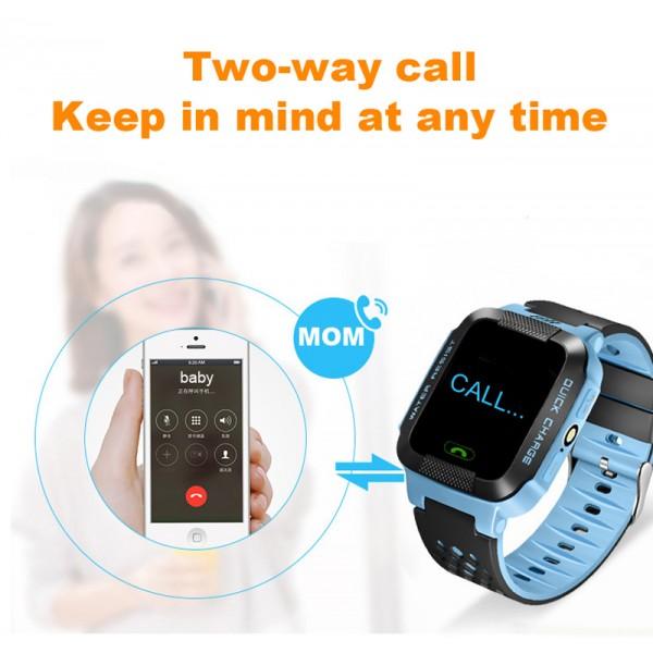 Водоустойчив GPS часовник -Детски -SOS повикване -Micro SIM за Andrioid и IOS,Y21 6