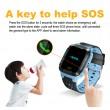 Водоустойчив GPS часовник -Детски -SOS повикване -Micro SIM за Andrioid и IOS,Y21 7