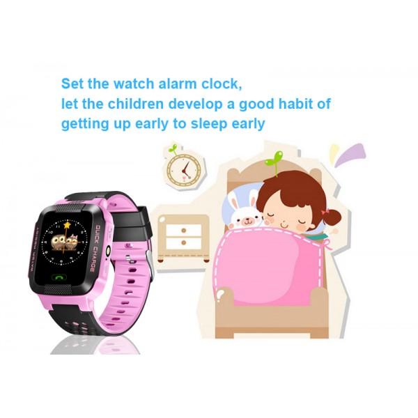 Водоустойчив GPS часовник -Детски -SOS повикване -Micro SIM за Andrioid и IOS,Y21 8