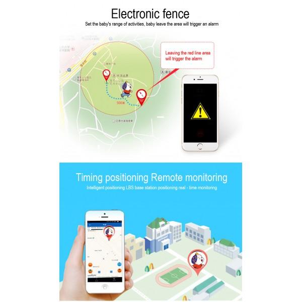 Водоустойчив GPS часовник -Детски -SOS повикване -Micro SIM за Andrioid и IOS,Y21 10